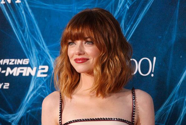 Emma Stone Debuts Bob Haircut Shuts It Down in Plunging