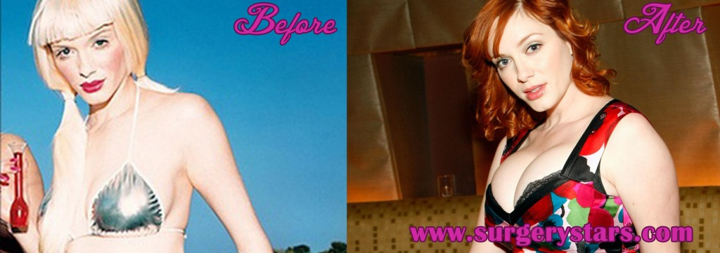 christina hendricks Bra Size Before and After Photos