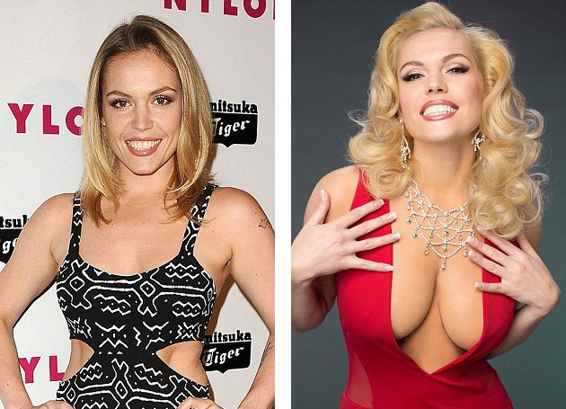 Anna Nicole Smith breast implants before and after