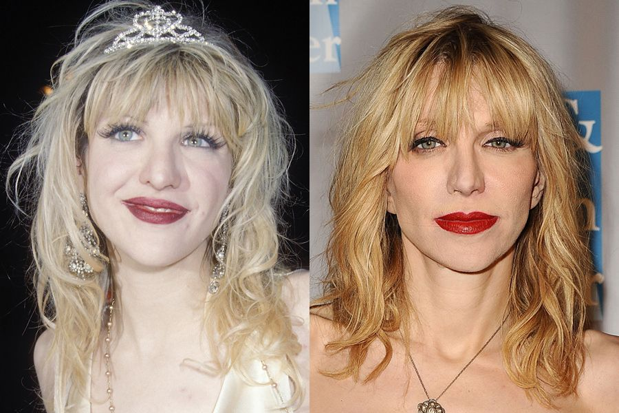Courtney love nose job before and after