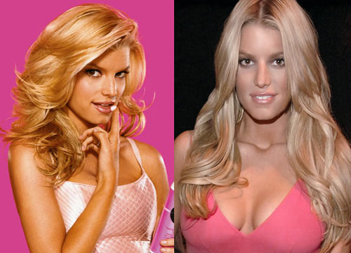 Jessica Simpson before and after Breast Augmentation