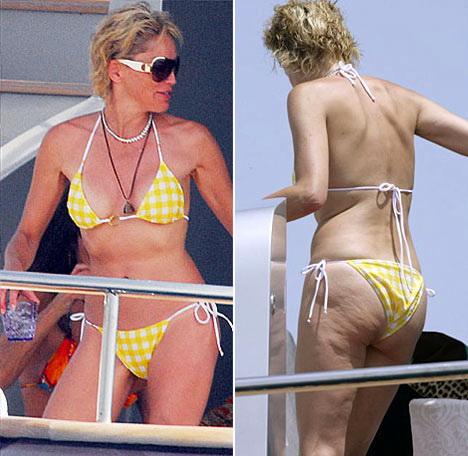 Sharon Stone cellulite