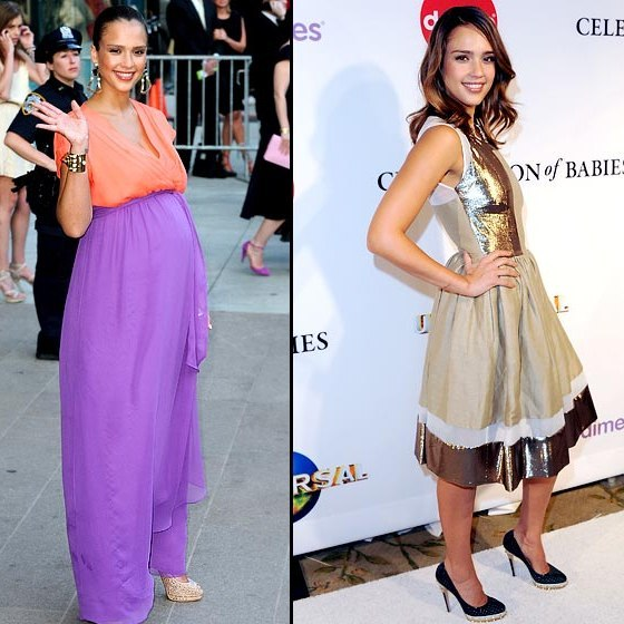 ... celebs that lost weight after pregnancy after giving birth to daughter